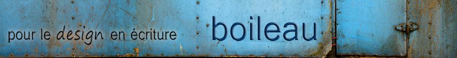 boileau - Pour le design en écriture